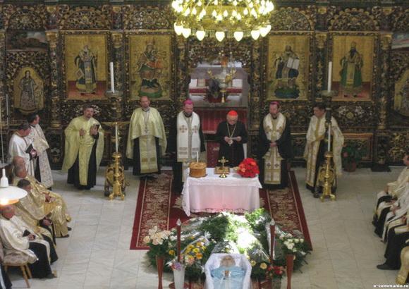 Slujba înmormântarii Pr. Jean Baptiste Robin,