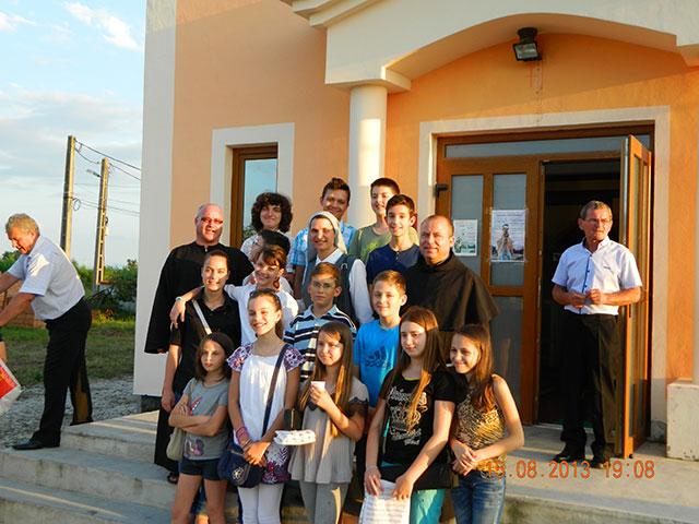 "Grupul ""Dominic Savio"" la Chisineu Cris,"