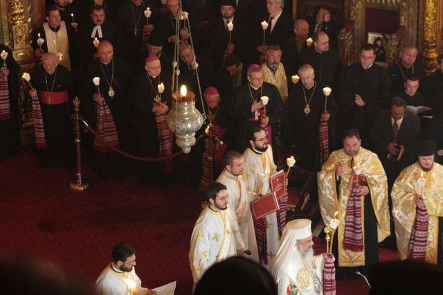 Prezenta catolica la funeraliile Mitropolitului Corneanu,