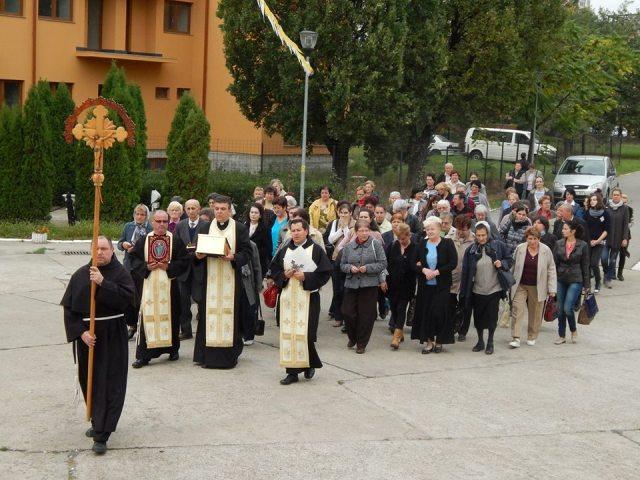 Sfânta Rita de Cascia în vizita la  Manastirea Franciscana Maica Domnului Oradea,