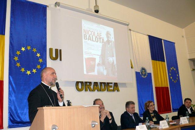 Comemorarea lui Nicolae Balota la Universitatea din Oradea,