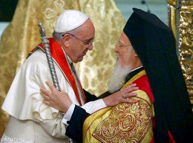 Declaratia comuna a Papei Francisc si a Patriarhului ecumenic Bartolomeu I,