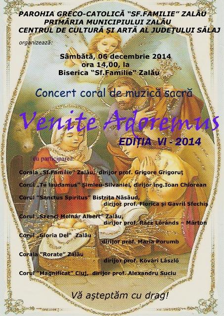 "Invitatie: Concert ""Venite adoremus"" editia a VI a – 2014,"