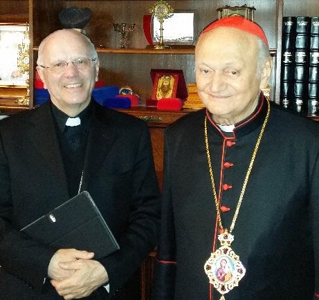 Secretarul Conferintei Episcopale Italiene în vizita la PF Cardinal Lucian,
