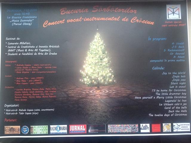 Invitatie: Concert la Manastirea Franciscana,