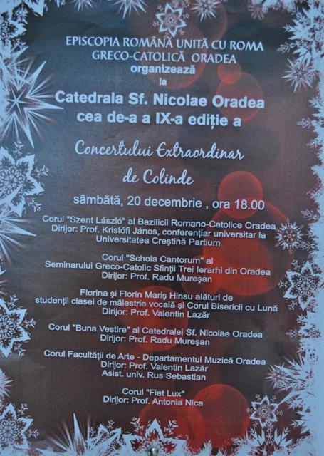 A IX-a editie a concertului extraordinar de colinde la Catedrala Sfântul Nicolae,