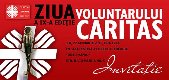 Invitatie: Zilele Voluntarului Caritas,