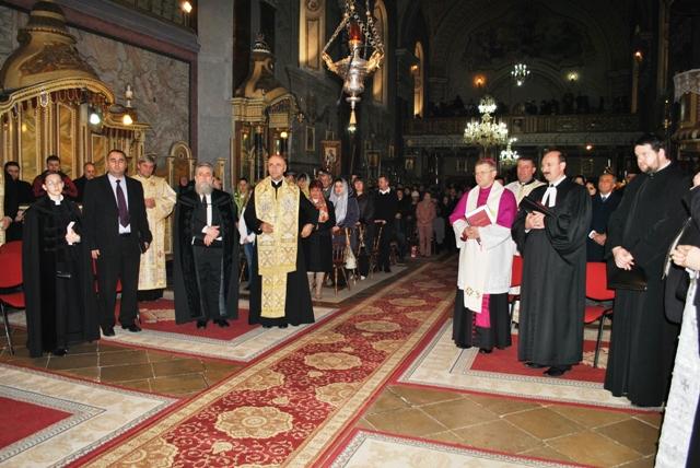 Încheierea octavei de rugaciune pentru unitatea crestinilor la Catedrala Sfântul Nicolae,