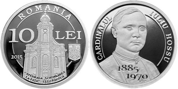Moneda din argint la 130 de ani de la nasterea Cardinalului Iuliu Hossu,