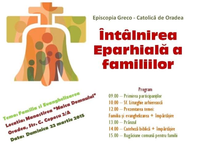 Programul Întâlnirii Eparhiale a Familiilor,