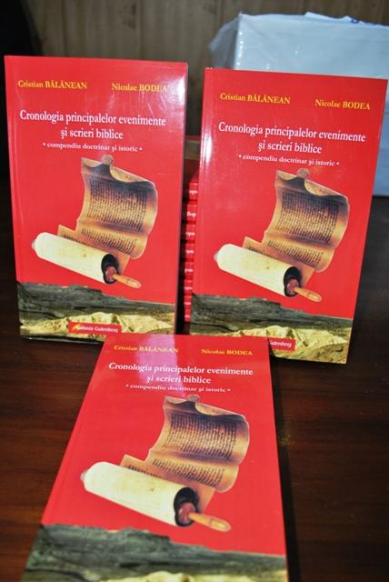 Lansarea cartii: Cronologia principalelor evenimente si scrieri biblice  –  compendiu doctrinar si istoric la Oradea,