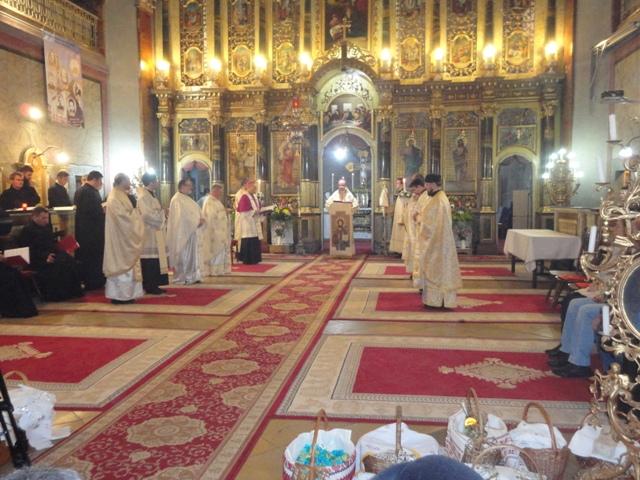 Sarbatoarea Învierii celebrata în Catedrala Greco-Catolica din Oradea,