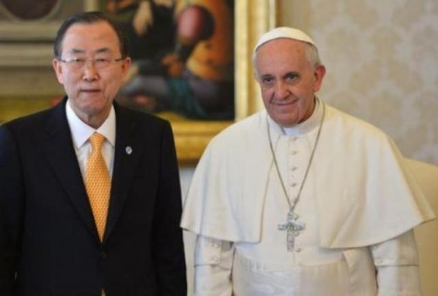 Secretarul general al Natiunilor Unite în vizita la Vatican,