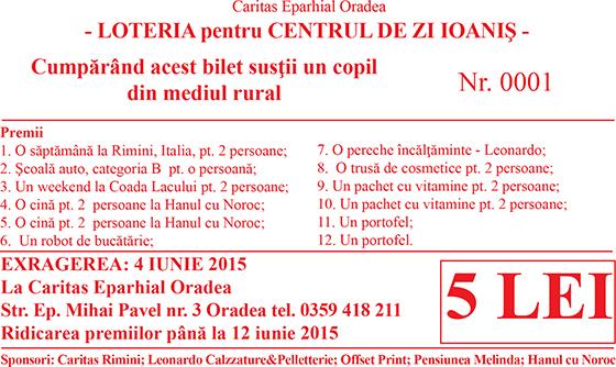 Loterie pentru Centrul de Zi Ioanis,