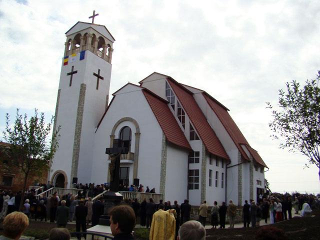 Sfintirea noii biserici din Carei,