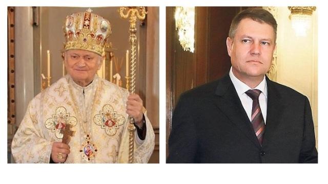 """Mesajul Preafericitului Cardinal Lucian adresat Presedintelui României cu ocazia vizitei la Colegiul """"Pio Romeno"""","""