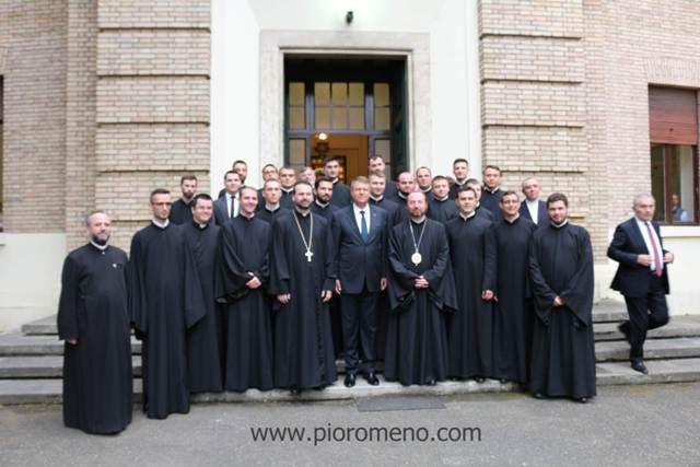 Vizita Presedintelui României Klaus Iohannis la Colegiul Pontifical Pio Romeno,