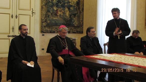 Decretul de înfiintare oficiala a Misiunii Române Unite în cadrul Episcopiei de Mantova,