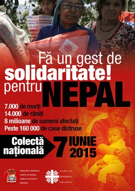 Colecta pentru Nepal,