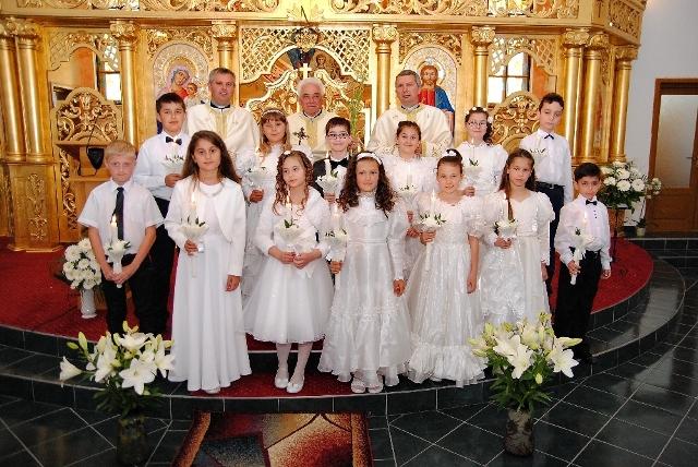 Prima Sfânta Împartasanie la Simleu Silvaniei,