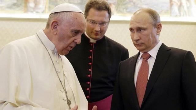 Papa Francisc îi cere presedintelui Putin un efort sincer pentru rezolvarea conflictului ucrainean,