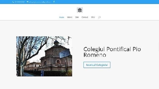 Haina noua pentru situl Colegiului Pio Romeno,