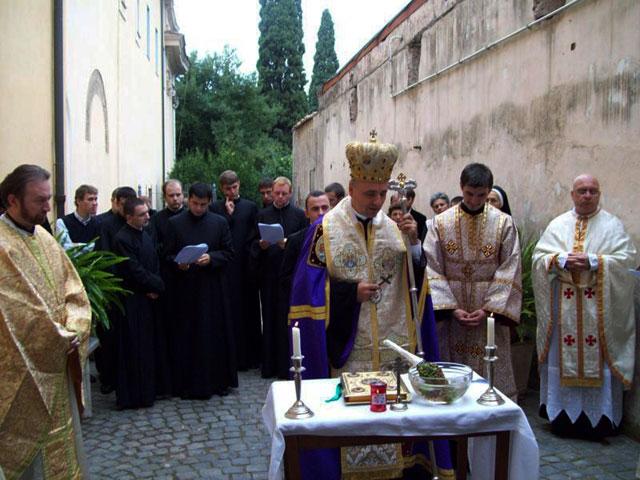 """Inaugurarea Capelei Bizantine la Manastirea """"San Gregorio al Celio"""" din Roma,"""