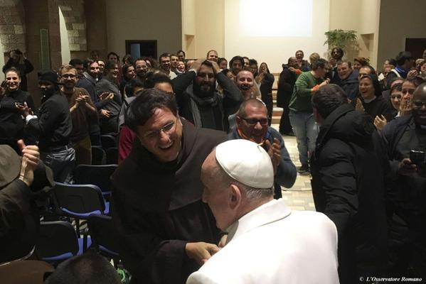 Vizita privata a Papei la Greccio,