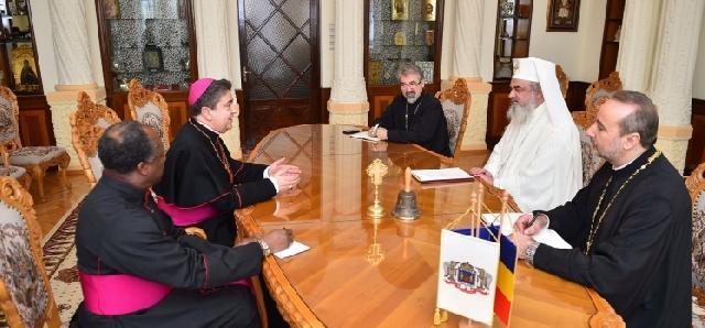 Noul Nuntiu Apostolic în România în vizita de prezentare la Patriarhia Româna,