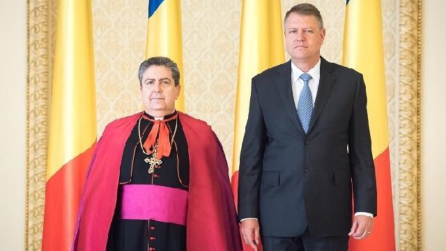 Presedintele României l-a primit pe noul Nuntiu Apostolic,