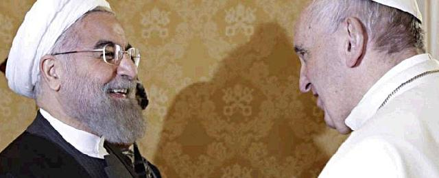 Papa l-a primit pe presedintele Iranului,