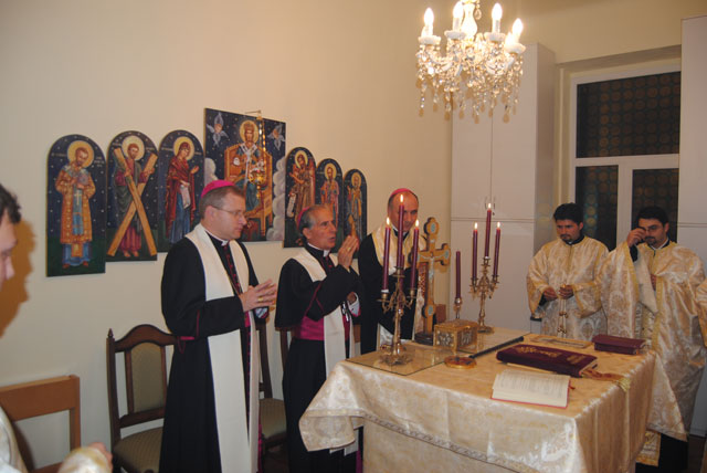 E.S. Francisco-Javier Lozano în vizita la Seminarul Teologic Greco-Catolic din Oradea,
