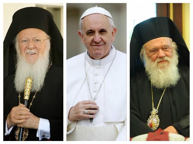 """""""Papa Francisc, Patriarhul Bartolomeu si Arhiepiscopul Ieronim se vor întâlnii la Lesbos"""","""