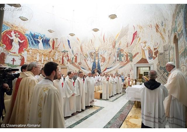 """""""Persecutiile incluse în marturia crestina. Papa, la aniversarea Centrului Aletti"""","""