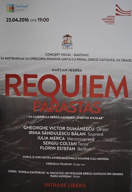 "Invitatie la Concertul ""Requiem – Parastas"","