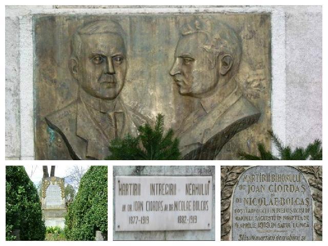 """Parastas în memoria eroilor beiuseni, Ioan Ciordas si Nicolae Bolcas"","