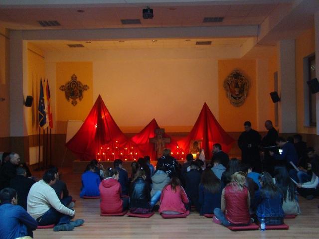 Rugaciune Taizé la Seminarul Teologic din Oradea,