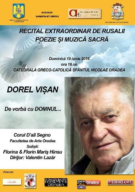 Invitatie: Recital extraordinar de Rusalii,