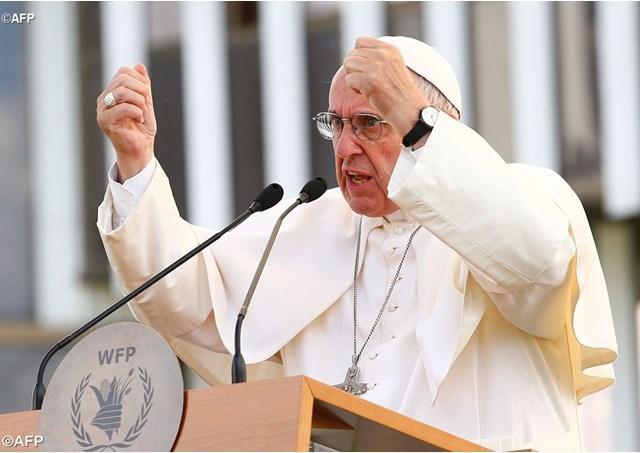 Papa Francisc la sediul PAM: denaturalizarea si debirocratizarea foametei,