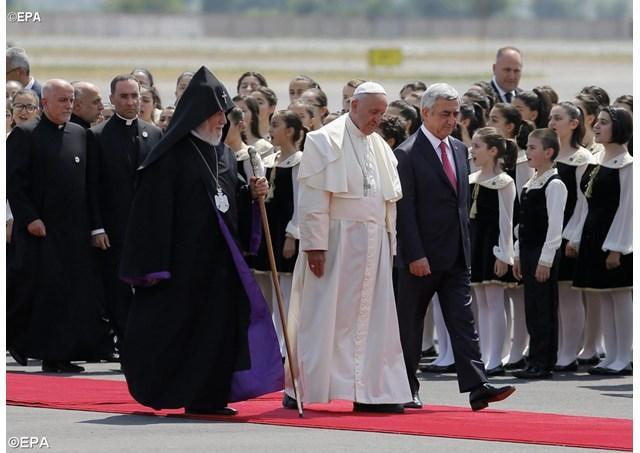Papa Francisc în Armenia: prima zi a vizitei,