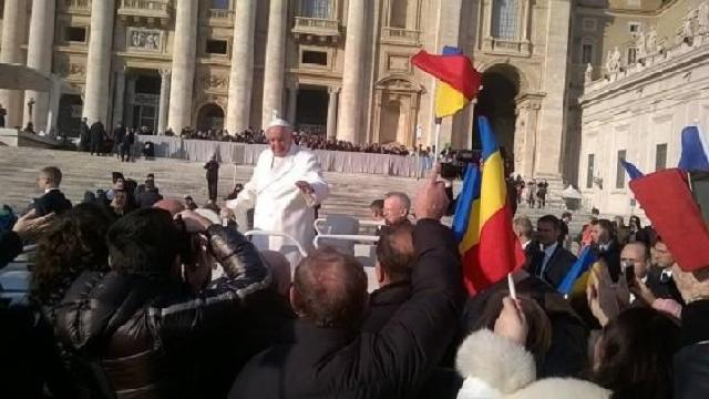 Cateheza Papei Francisc. Salutul adresat pelerinilor români,