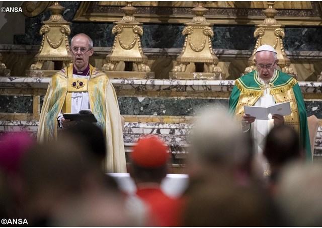 Întâlnirea papei Francisc cu liderul Comuniunii Anglicane,