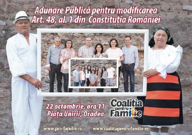 Invitatie: Adunare publica pentru modificarea Constitutiei,
