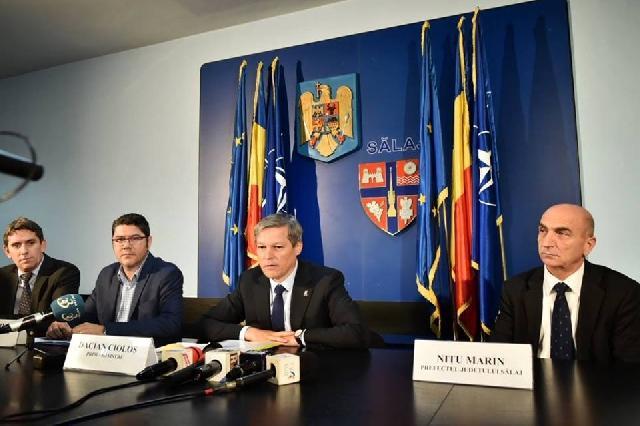 Parintele Cristian Borz s-a întâlnit la Zalau cu premierul Dacian Ciolos,