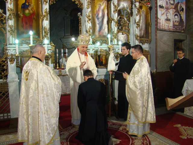 Hirotonire de diacon în Biserica Seminarului din Oradea,