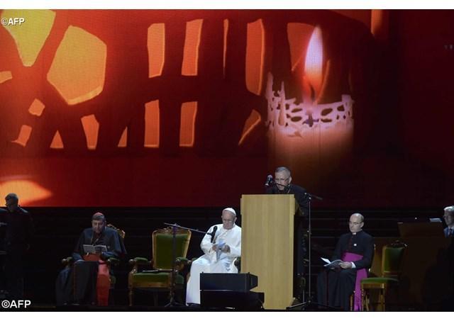 Papa Francisc în Suedia. Întâlnirea ecumenica de la Malmö Arena,