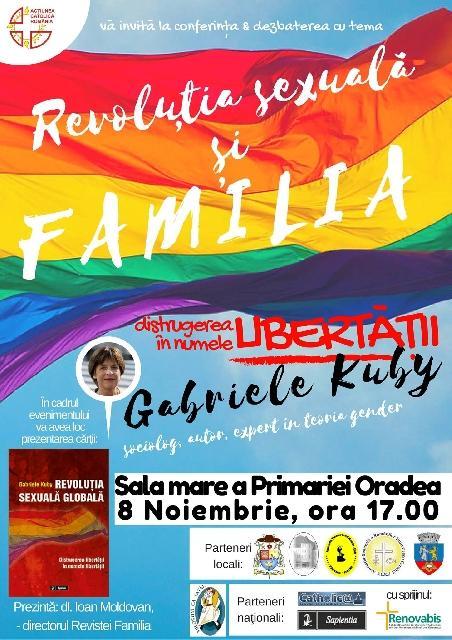 Invitatie: Conferinta – Dezbatere si Lansare de carte cu Gabriele Kuby,