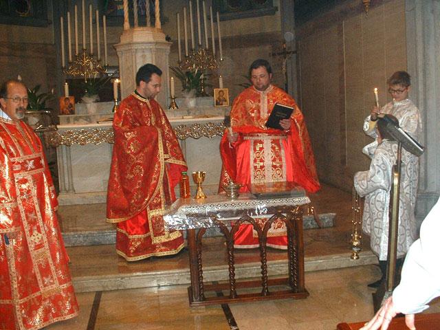 Binecuvântare de vase sfinte si cateheza la Padova,