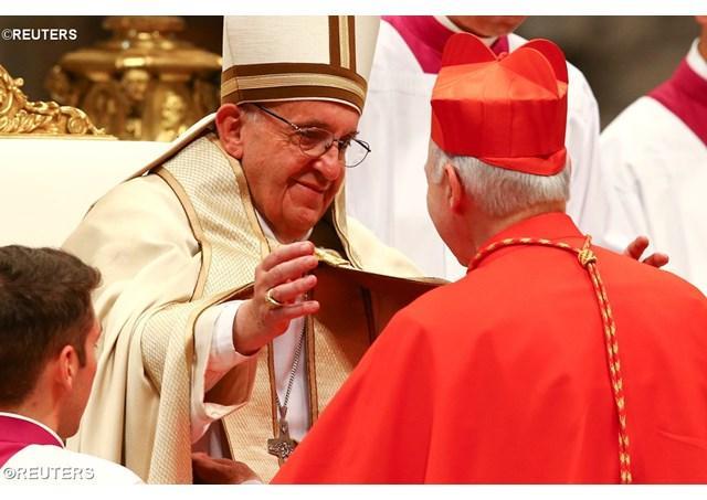 """""""Papa Francisc, noilor cardinali: în inima lui Dumnezeu nu exista dusmani, ci numai fii"""","""
