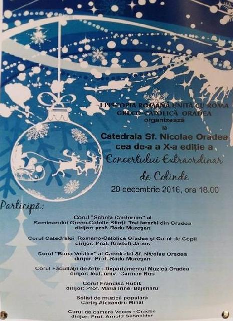 Invitatie: Concertul de Craciun din Catedrala Sfântul Nicolae,